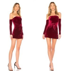 Lovers + Friends Burgundy Mini Dress Size Medium